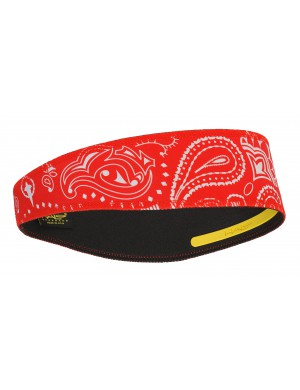 HALO II PULLOVER HEADBAND - Paisley Red